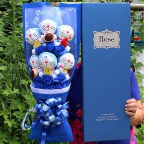叮当猫哈喽kt猫蓝胖子花束卡通花束礼盒圣诞节生日毕业礼物包邮