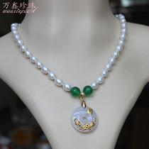 新疆和田玉吊坠羊脂白玉项链女玉石吊坠玉珠链手链圆珠挂件毛衣链