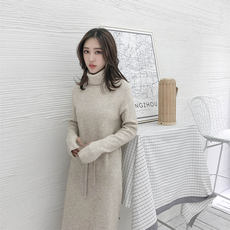 6fbadfeb2 2018 autumn and winter new products in the long paragraph over the knee  sweater skirt high