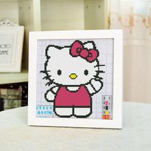 【天天特价】简单十字绣小幅新手绣卡通人物kitty猫儿童卧室印花