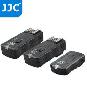 JJC 闪光灯无线引闪器 一拖二触发器遥控器 佳能尼康富士相机外置闪光灯通用