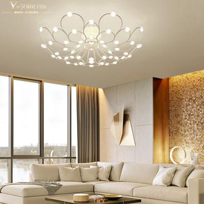 餐厅吊灯现代简约灯具个性客厅LED卧室灯创意鸟巢满天星吸顶灯网友购买经历