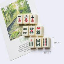 Creative mahjong refrigerator magnetic stickers magnetic stickers message photo black and white board stickers magnet chess home