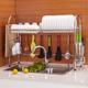 达派屋304不锈钢碗架水槽沥水架厨房置物架落地放碗盘筷用品单层
