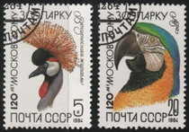481 foreign covered pin stamp USSR 1984 bird wildlife (2 pieces)