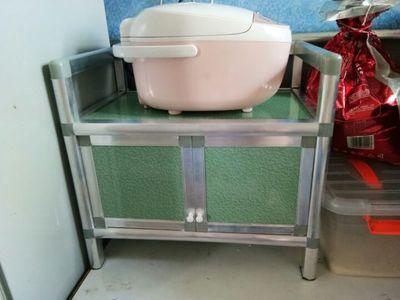 简易餐边柜碗柜厨柜三层组装柜不生锈铝合金柜橱柜厨房收纳柜包邮