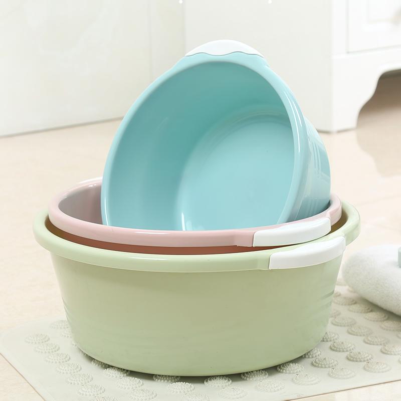 大号洗脸盆塑料家用可爱少女洗衣服洗澡宝宝加厚水盆婴儿洗脚盆子