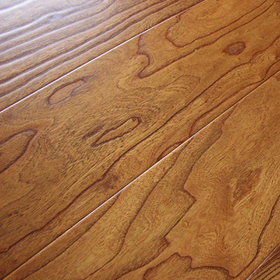 南浔仿古榆木浮雕厂家直销多层实木复合地板15mm大锁扣地热地暖板