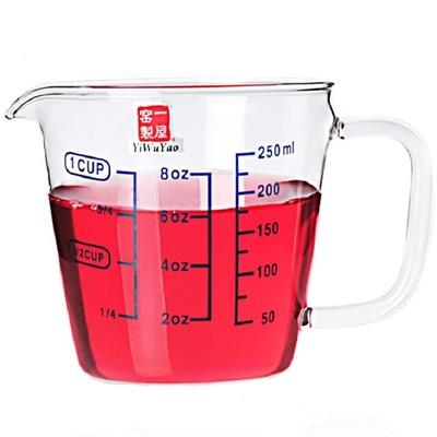 一屋窑刻度杯耐热玻璃量杯儿童微波炉加热杯家用牛奶杯刻度杯子网友购买经历