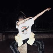 潮牌嘻哈熊猫短袖T恤女韩版宽松百搭夏季白色BF学生学生情侣半袖