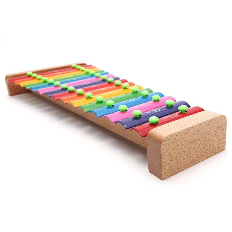 包邮儿童敲琴15音打击铁琴儿童乐器玩具敲击乐器铝片琴木琴奥尔夫