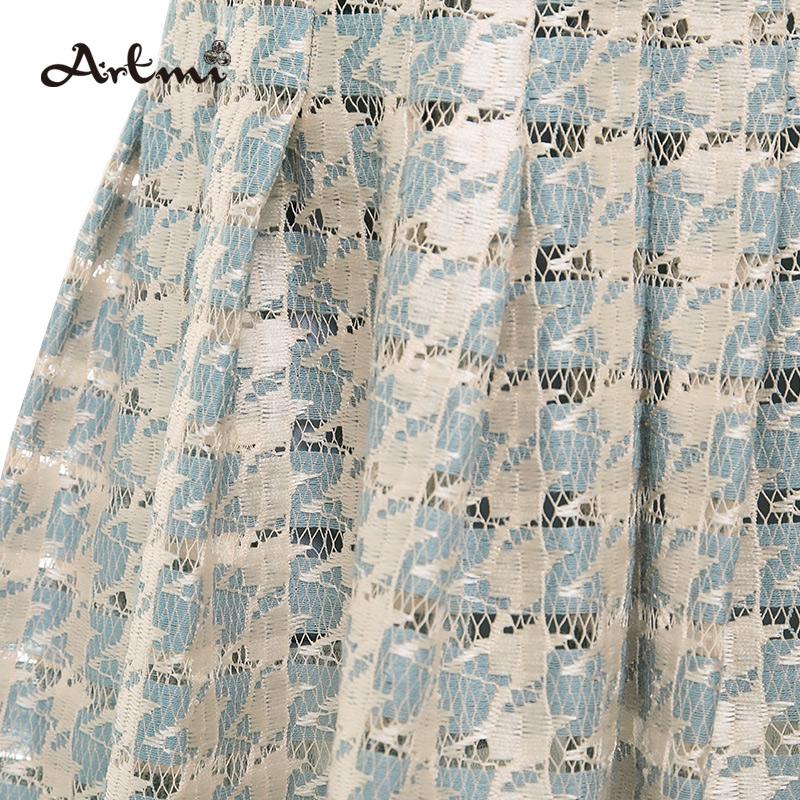 Artmi阿特蜜韩版长款半身裙时尚束腰A字裙大摆裙潮