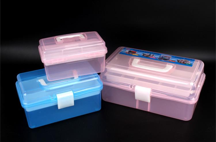 美甲工具箱多层桌面收纳盒美甲师化妆箱多功能大中小号美甲箱