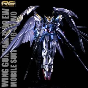Bandai万代金属着色RG17WINGZERO天使飞翼零式高达掉毛EW版