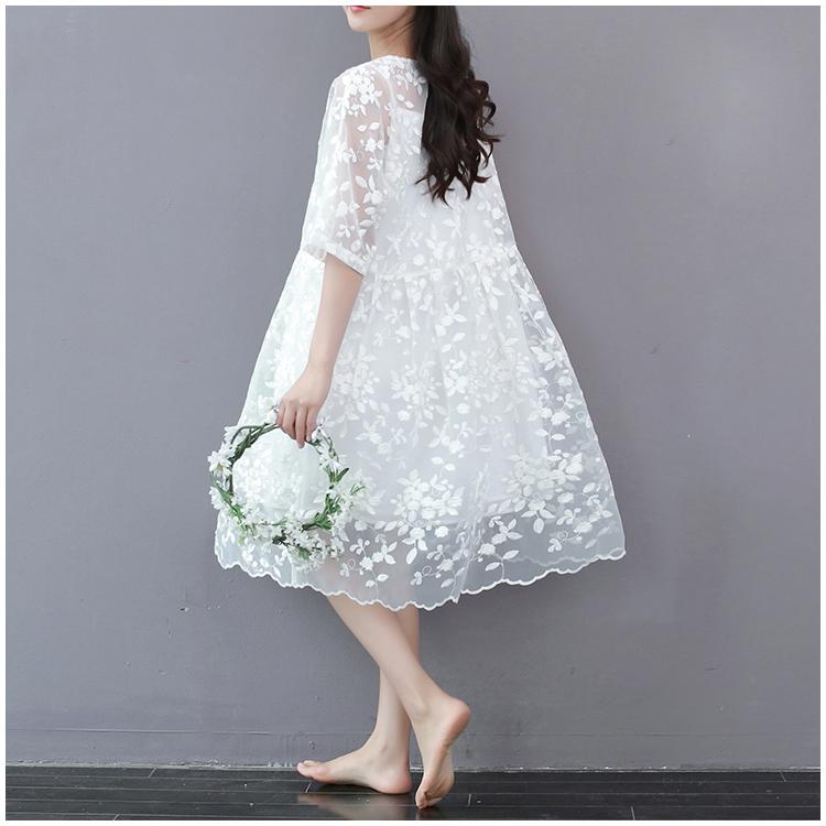 森女刺绣连衣裙