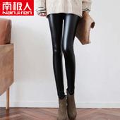 加绒PU皮裤女士2017新款高腰大码秋冬外穿黑色打底裤紧身显瘦性感