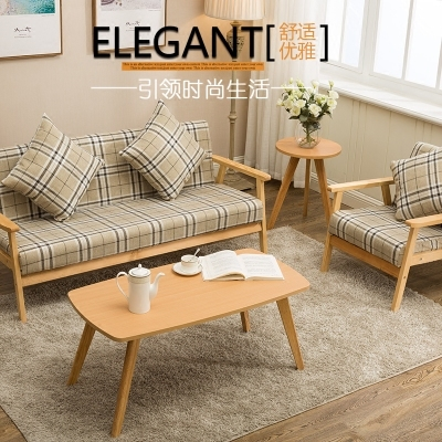 日式實木單人沙發 宜家小戶型雙人三人布藝沙發可拆洗咖啡廳沙發新款推薦