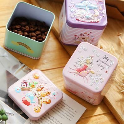圣诞浮雕小方盒圣诞节礼盒包装盒立体创意糖果盒饼干烘焙铁盒收纳
