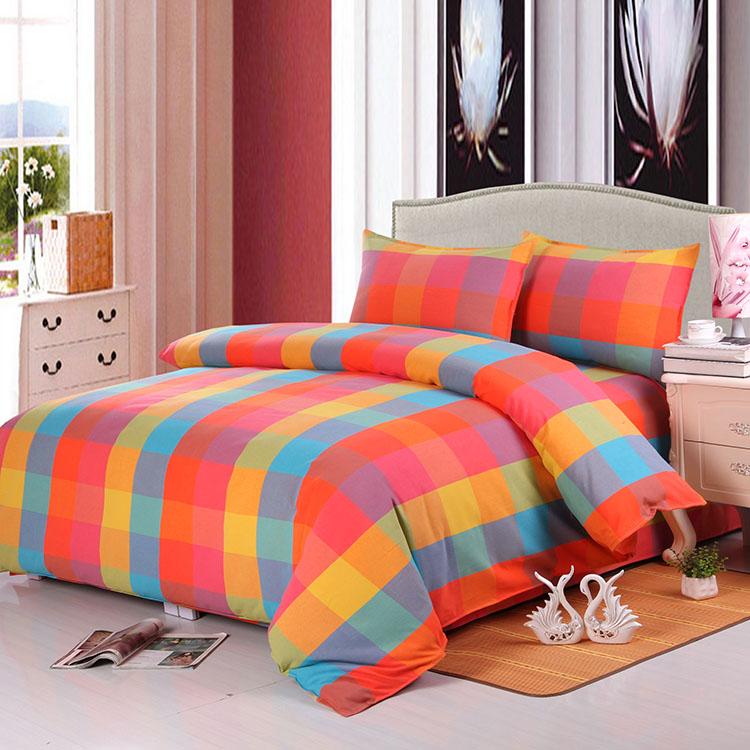 老粗布床单纯棉格子床单单件双人加厚加密1.8米/2米床