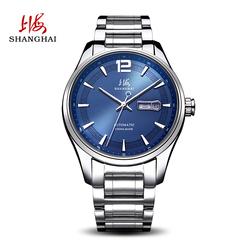 上海手表男自动机械表休闲日历星期时尚潮流钢带防水男士腕表706