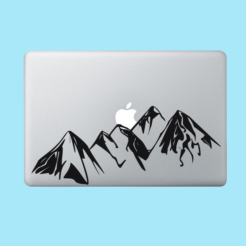 苹果笔记本电脑贴膜MacBook Air/Pro外壳贴纸局部创意彩膜黑白D类