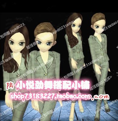 劲舞团最新款yy搭配女灰色情侣套装男发型格子衣服裤鞋子7天永久6