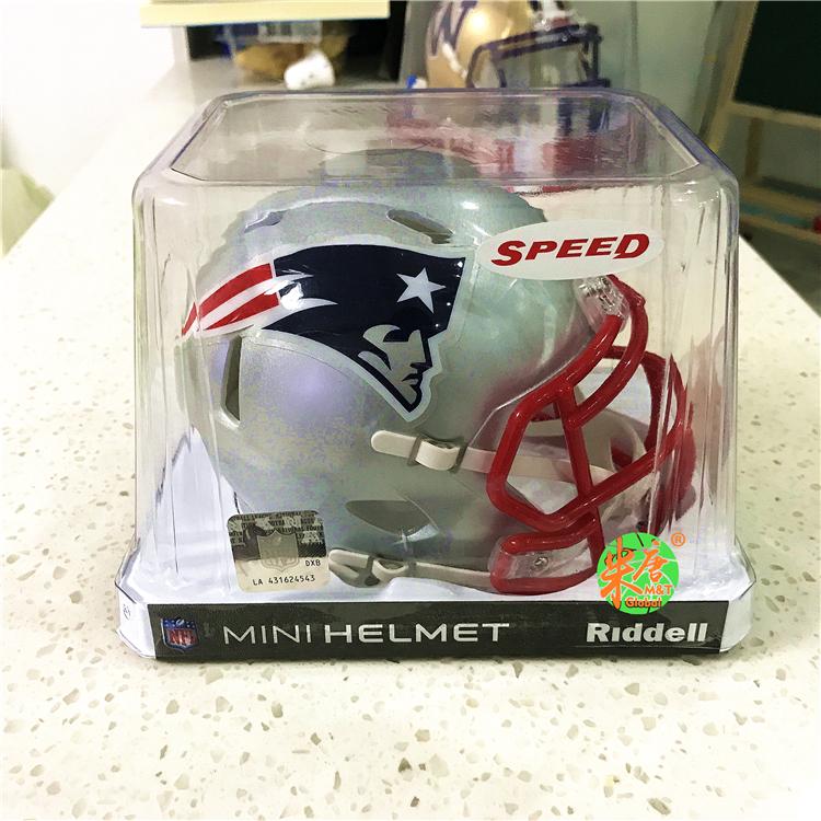 正版Riddell橄榄球NFL新英格兰爱国者迷你mini场景模型头盔可车载