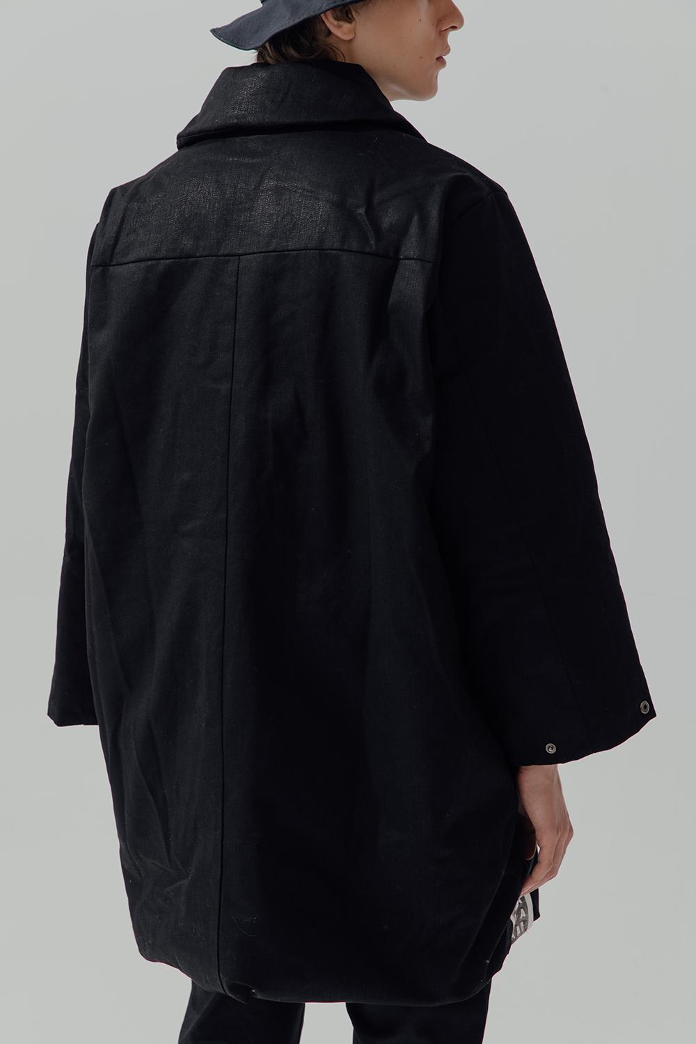 丹宁牛仔涂层加厚oversize廓形棉衣