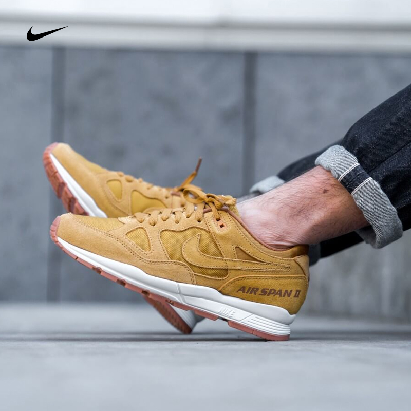 Nike耐克 AIR SPAN II 复古白生胶小麦色老爹鞋跑步鞋AO1546-700