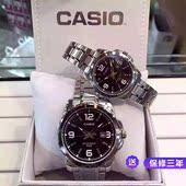 正品 Casio钢带情侣表一对 经典 卡西欧手表女 简约休闲石英表男