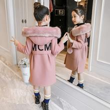 女童毛呢外套秋冬2018新款韩版洋气中大童儿童呢子大衣加厚中长款