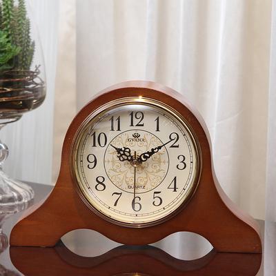 欧式钟表座钟台钟客厅实木创意静音台式复古时钟美式桌面坐钟摆件领取优惠券