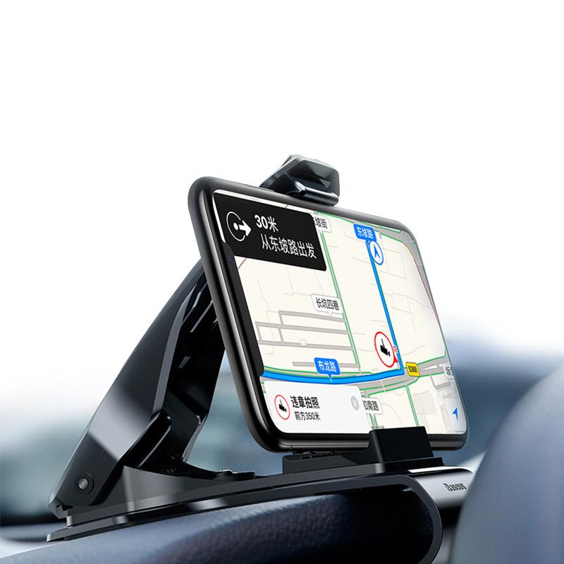 倍思车载手机支架卡扣式手机架仪表台多功能汽车导航支架通用车内