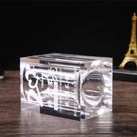 Crystal pen holder custom lettering practical ornaments class meeting party souvenir company logo gift graduation creative