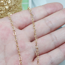 14K light gold love pearl sweater chain accessories, handmade DIY earrings, bracelet, self-made material, stud parts.