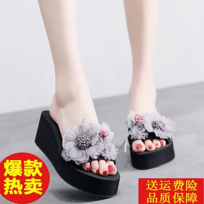 女士拖鞋夏室内增高软厚底高跟波跟女托鞋外穿夏天凉扦鞋时尚好看