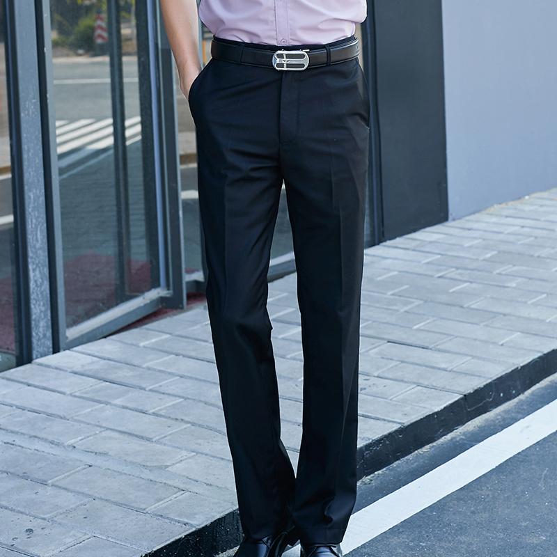 梵木森春夏男士商务休闲裤修身英伦小脚裤子男长裤西裤男黑色男裤