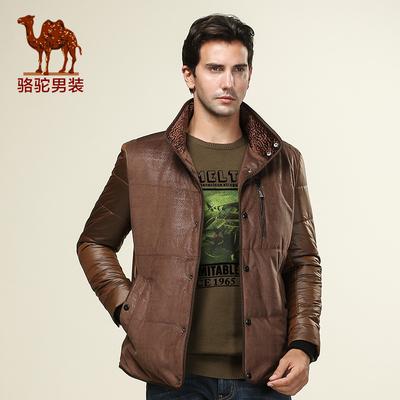 特卖骆驼男装 男士短款修身棉衣 立领单排扣休闲薄款棉衣男士棉服