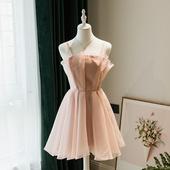 晚礼服女派对洋装 伴娘服2019新款 小礼服裙名媛聚会主持连衣裙春季