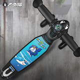Children's scooter folding scooter three-wheeled flash baby slide 2-3-6-8-12 years old child yo car