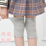 Children's summer air-conditioned room warm knee pads girls socks 3-6-8-10 years old sports anti-fall cotton summer thin section