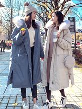 潮冬学生韩版 宽松加厚过膝工装 棉袄外套 反季棉服女中长款 2019新款图片