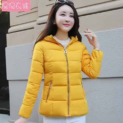 2018新款冬装棉衣女短款外套修身韩版棉服小棉袄连帽加厚保暖上衣