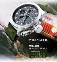 正品AMST艾美时特多功能军表防水双显电子表超强夜光户外男士手表