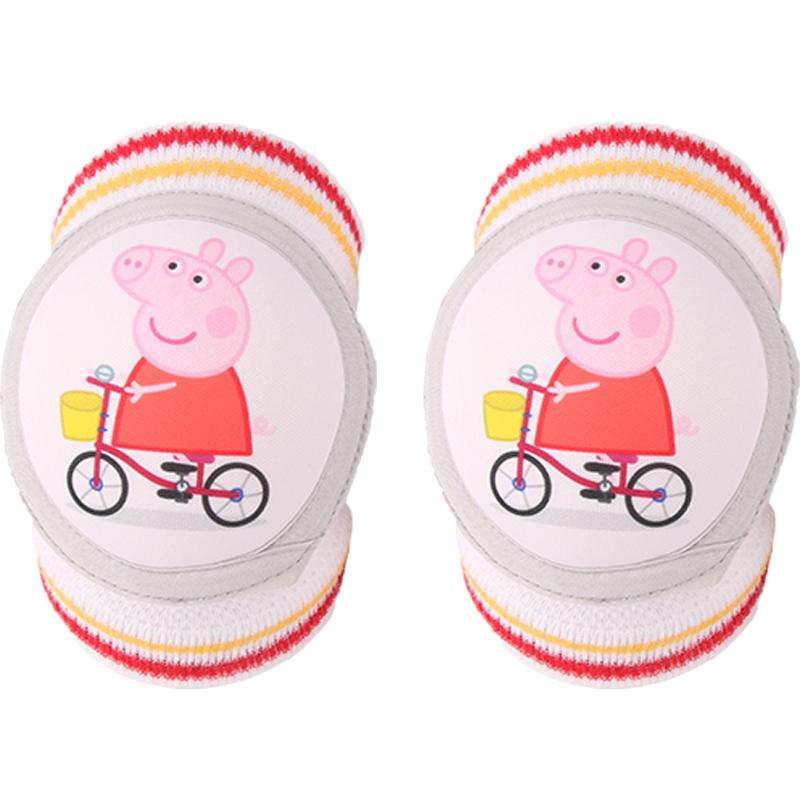 宝宝护膝盖套防摔薄款透气夏天男女童婴幼儿学步纯棉网眼护肘儿童