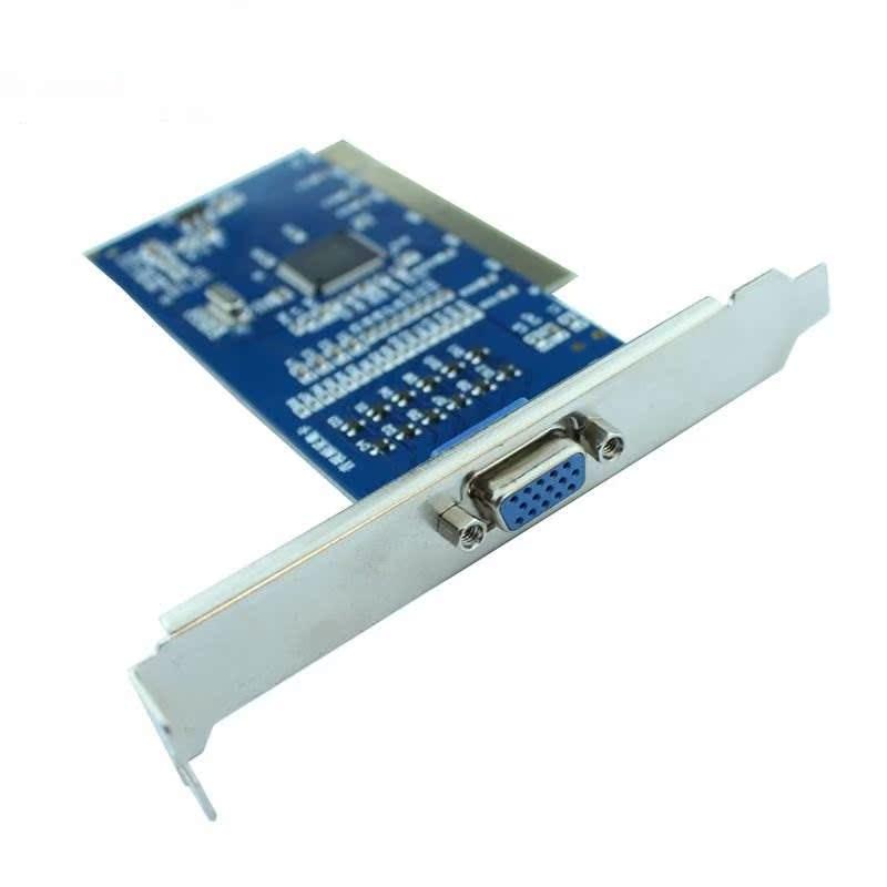 8路电脑监控视频采集卡支持台式PCI口八路实时高清录像主机监控卡