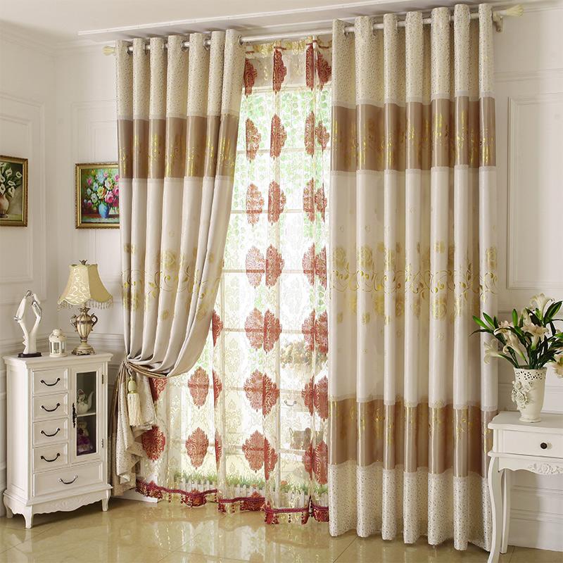 窗帘烫金印花