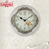 Lisheng European wall clock living room modern minimalist mute creative retro hanging table personality home bedroom quartz clock
