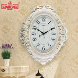 Lisheng European-style large wall clock American retro decorative clock quartz clock living room silent pastoral fashion creative