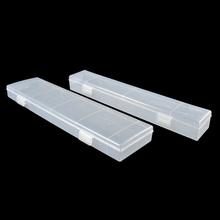 书法毛笔盒子笔盒收纳盒塑料水彩长方形美术用品画笔水粉笔文具盒图片